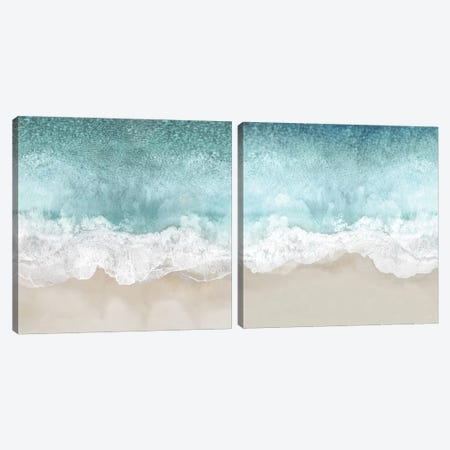 Ocean Waves Diptych Canvas Print Set #MGG2HSET003} by Maggie Olsen Canvas Art