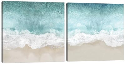 Ocean Waves Diptych Canvas Art Print