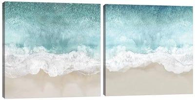 Ocean Waves Diptych Canvas Art Print