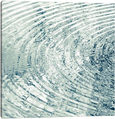 Ripples Aqua I Canvas Art Print
