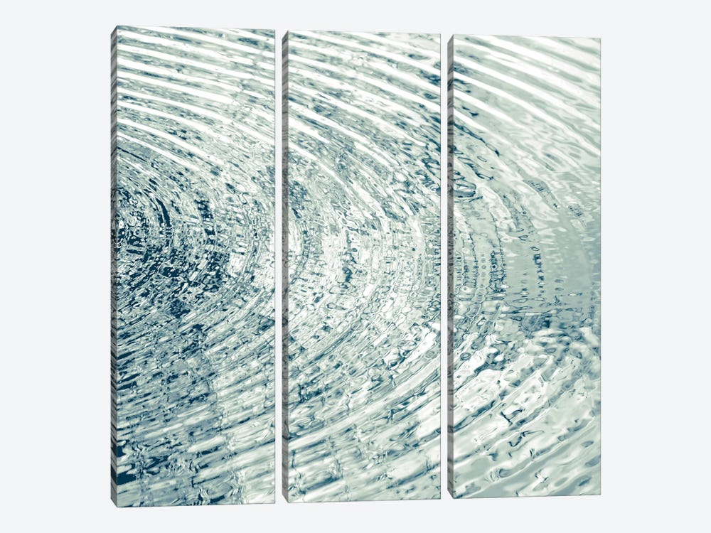 Ripples Aqua II by Maggie Olsen 3-piece Canvas Artwork