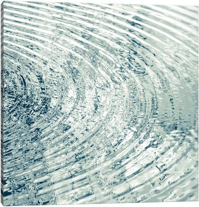 Ripples Aqua II Canvas Art Print