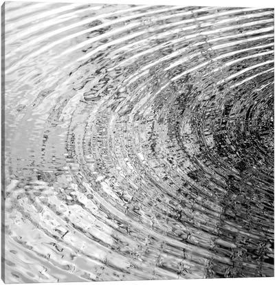 Ripples Black & White I Canvas Art Print