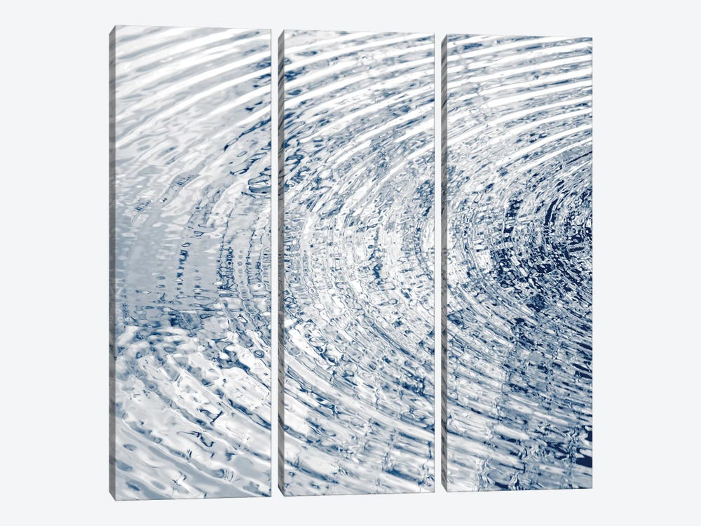 Ripples Indigo I 3-piece Art Print