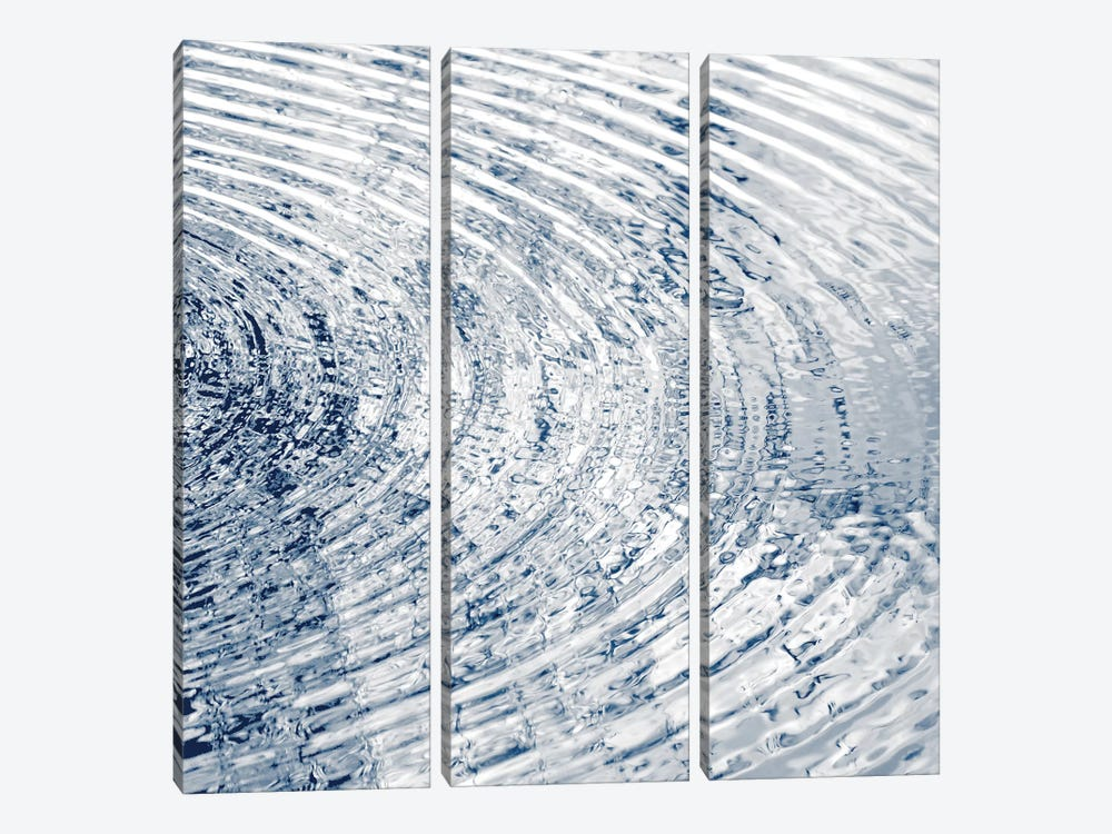 Ripples Indigo II by Maggie Olsen 3-piece Canvas Art