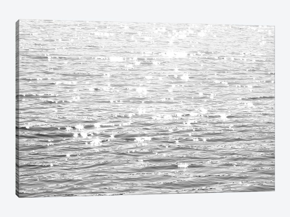 Sunlit Sea Black & White 1-piece Canvas Art