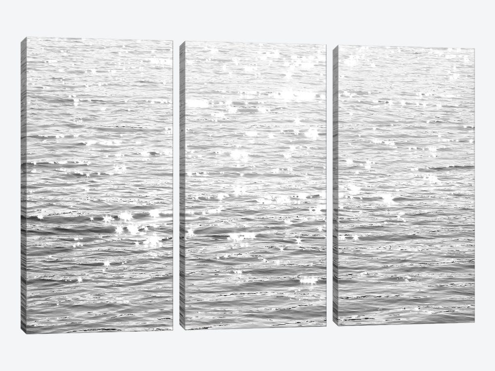Sunlit Sea Black & White 3-piece Canvas Artwork