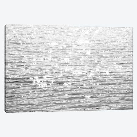 Sunlit Sea Black & White Canvas Print #MGG46} by Maggie Olsen Art Print