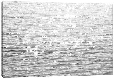 Sunlit Sea Black & White Canvas Art Print
