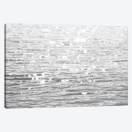 Sunlit Sea Black & White Canvas Print #MGG46} by Maggie Olsen Art Print
