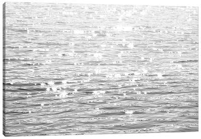 Sunlit Sea Black & White Canvas Art Print