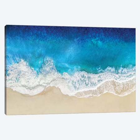 Aqua Ocean Waves From Above Canvas Print #MGG48} by Maggie Olsen Canvas Art
