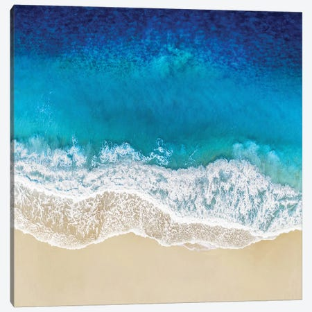 Aqua Ocean Waves I Canvas Print #MGG49} by Maggie Olsen Canvas Art