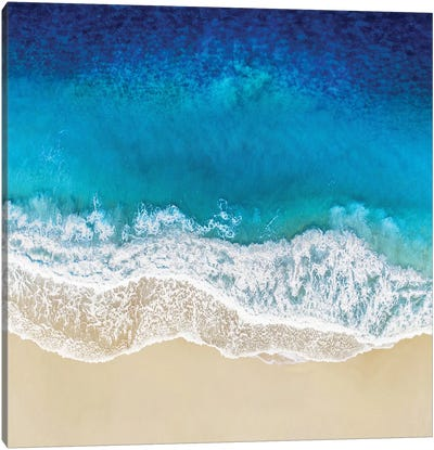 Aqua Ocean Waves I Canvas Art Print