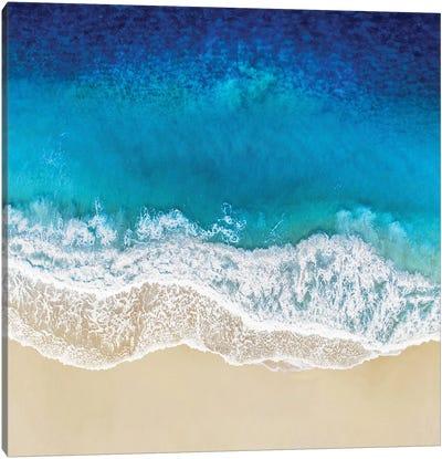 Aqua Ocean Waves I Canvas Art Print
