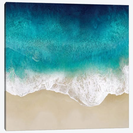 Aqua Ocean Waves III Canvas Print #MGG50} by Maggie Olsen Art Print