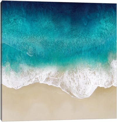 Aqua Ocean Waves III Canvas Art Print