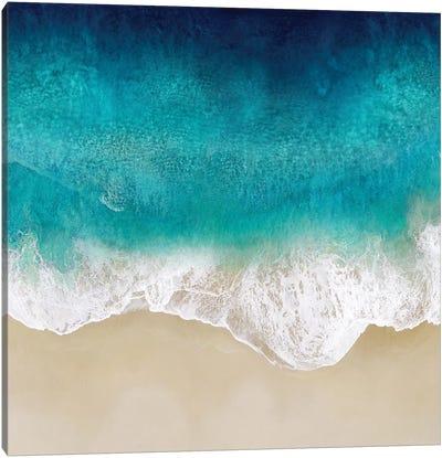 Aqua Ocean Waves III Canvas Art Print
