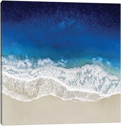 Indigo Ocean Waves III Canvas Art Print