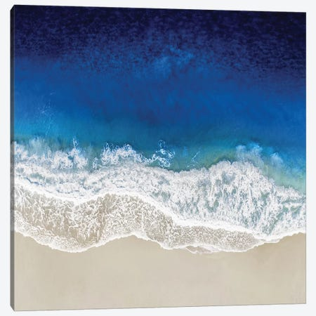 Indigo Ocean Waves III Canvas Print #MGG51} by Maggie Olsen Art Print