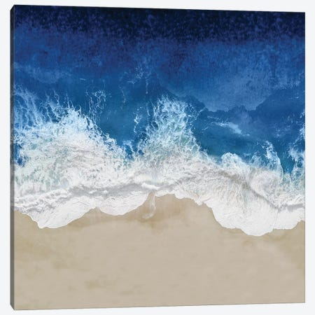 Indigo Ocean Waves IV Canvas Print #MGG52} by Maggie Olsen Art Print