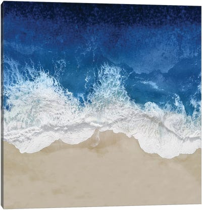 Indigo Ocean Waves IV Canvas Art Print