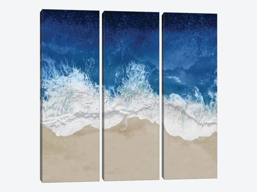 Indigo Ocean Waves IV by Maggie Olsen 3-piece Canvas Art Print