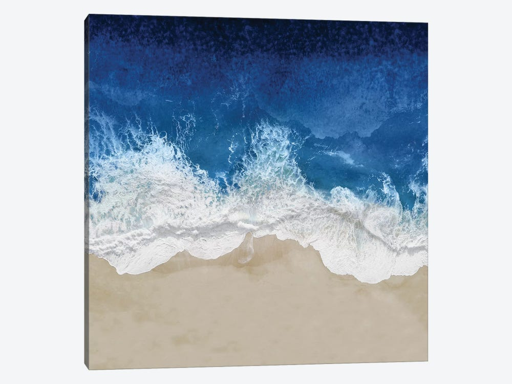 Indigo Ocean Waves IV by Maggie Olsen 1-piece Canvas Art Print