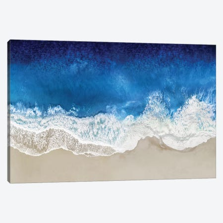 Indigo Waves From Above I Canvas Print #MGG53} by Maggie Olsen Art Print