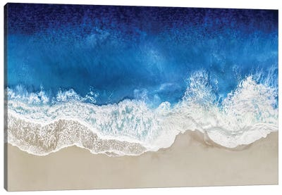 Indigo Waves From Above I Canvas Art Print