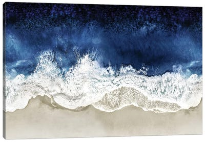 Indigo Waves From Above II Canvas Art Print
