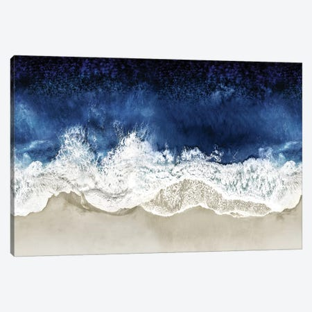 Indigo Waves From Above II Canvas Print #MGG54} by Maggie Olsen Canvas Artwork