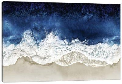 Indigo Waves From Above II Canvas Art Print