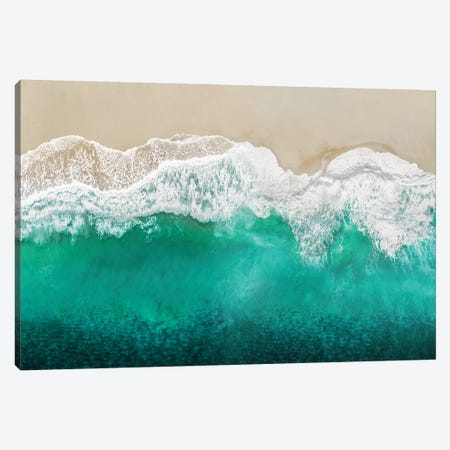 Teal Ocean Waves From Above I Canvas Print #MGG57} by Maggie Olsen Canvas Art