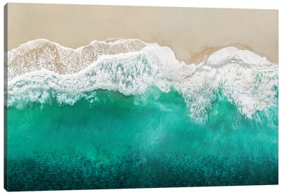 Teal Ocean Waves From Above I Canvas Art Print