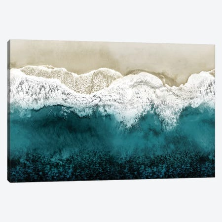 Teal Ocean Waves From Above II Canvas Print #MGG58} by Maggie Olsen Art Print