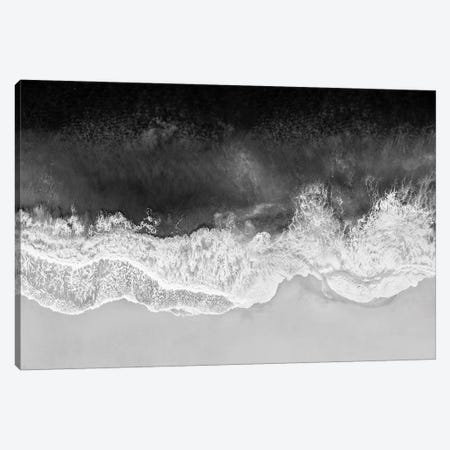 Waves In Black And White Canvas Print #MGG59} by Maggie Olsen Art Print
