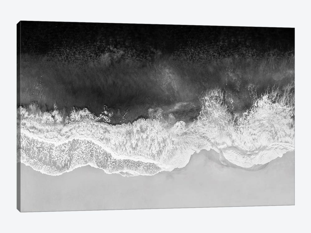Waves In Black And White by Maggie Olsen 1-piece Canvas Art