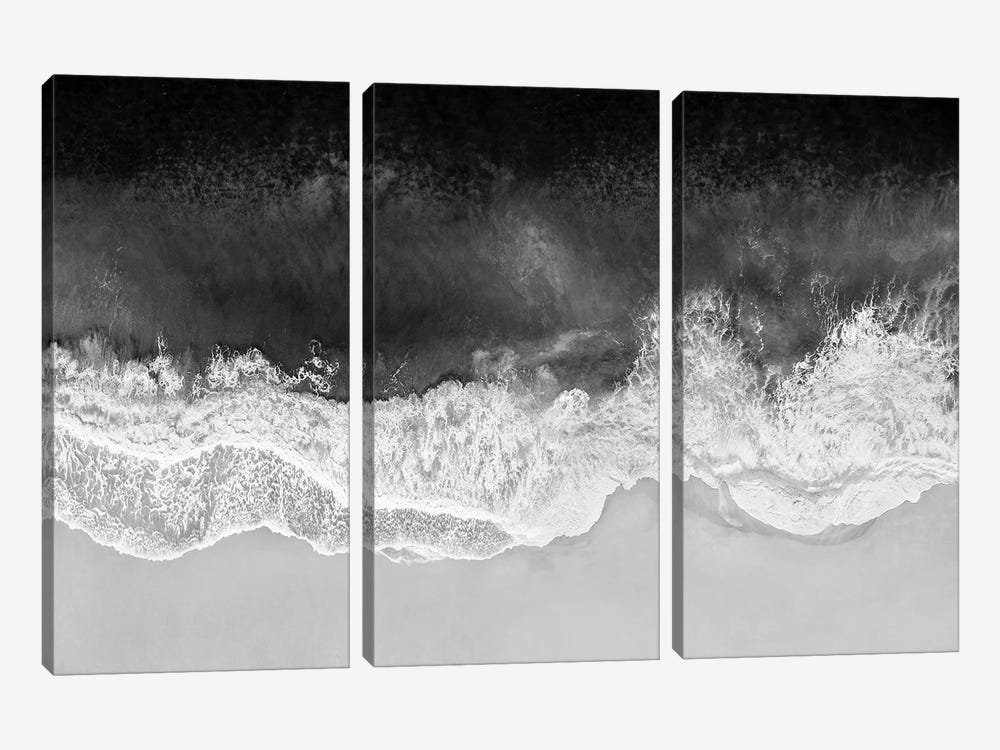 Waves In Black And White by Maggie Olsen 3-piece Canvas Art