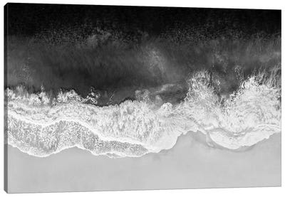 Waves In Black And White Canvas Art Print