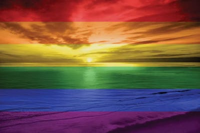 Rainbow Sunset Canvas Art By Maggie Olsen Icanvas