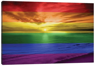 Rainbow Sunset Canvas Art Print