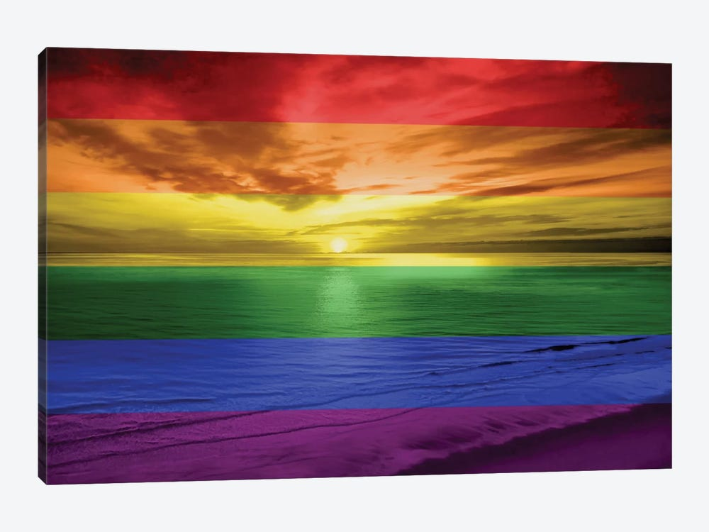 Rainbow Sunset by Maggie Olsen 1-piece Canvas Print