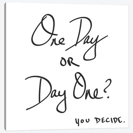 One Day Or Day One? You Decide. 3-Piece Canvas #MGK102} by Nature Magick Art Print