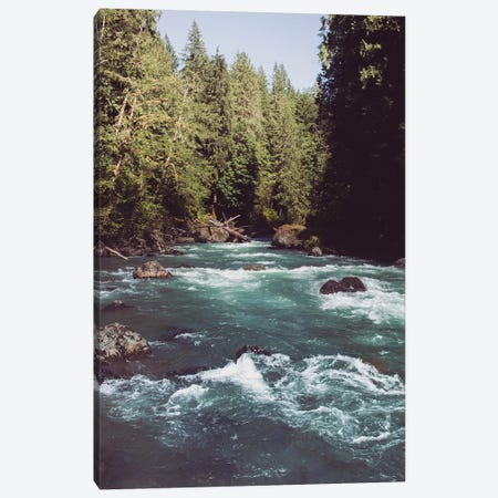 Pacific Northwest River Turquoise Blue Canvas Print #MGK104} by Nature Magick Canvas Wall Art