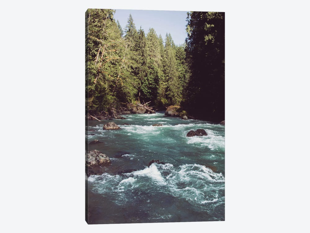 Pacific Northwest River Turquoise Blue by Nature Magick 1-piece Canvas Art Print
