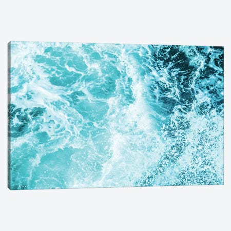 Perfect Ocean Sea Waves Tropical Beach Summer Turquoise Blue Green Wave Nature Canvas Print #MGK105} by Nature Magick Canvas Wall Art