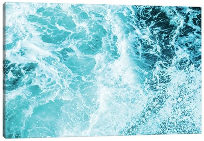 Perfect Ocean Sea Waves Tropical Beach Summer Turquoise Blue Green Wave Nature Canvas Art Print