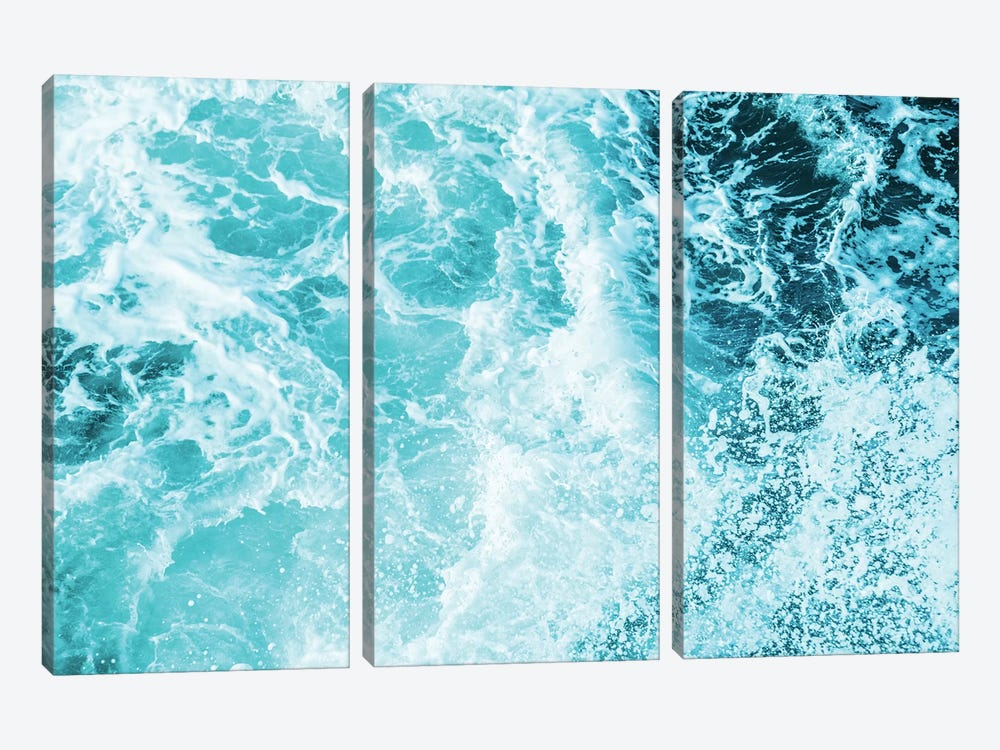 Perfect Ocean Sea Waves by Nature Magick 3-piece Canvas Wall Art