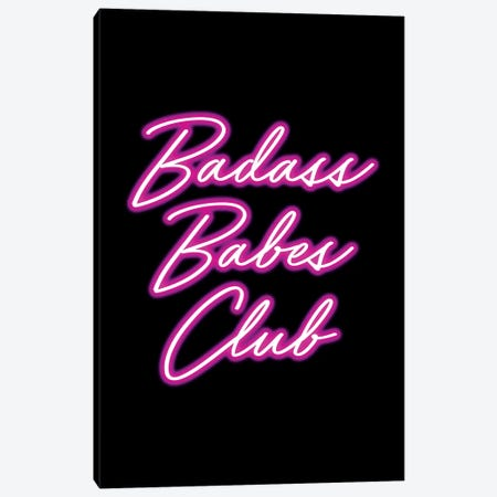 Badass Babes Club I Canvas Print #MGK10} by Nature Magick Canvas Art Print